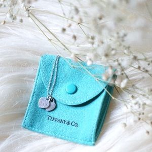 Tiffany and Co. Mini Double Heart Silver Necklace